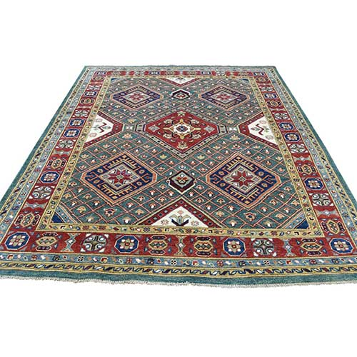 Hand-Knotted Pure Wool Special Kazak Tribal Design Oriental