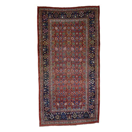 Hand-Knotted Antique Persian Bijar Exc Cond Gallery Size