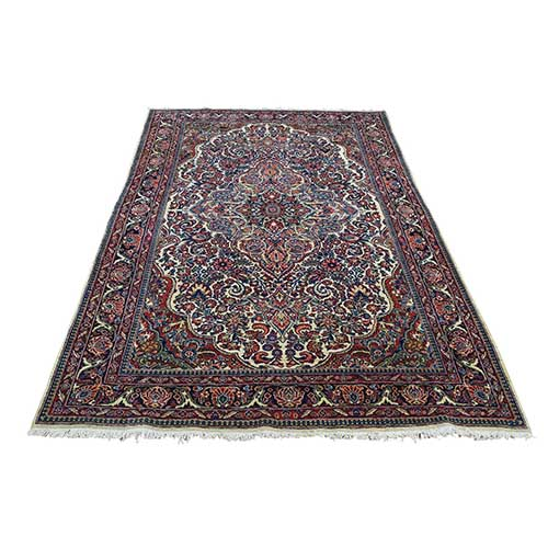 Antique Persian Kashan Full Pile Soft Hand-Knotted