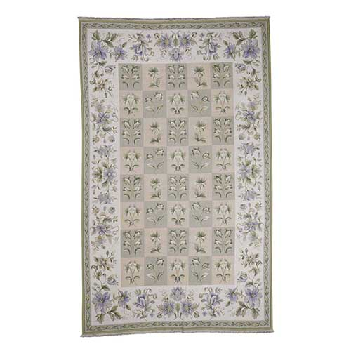 Double Stitched Soumak Botanical English Design Flat Weave