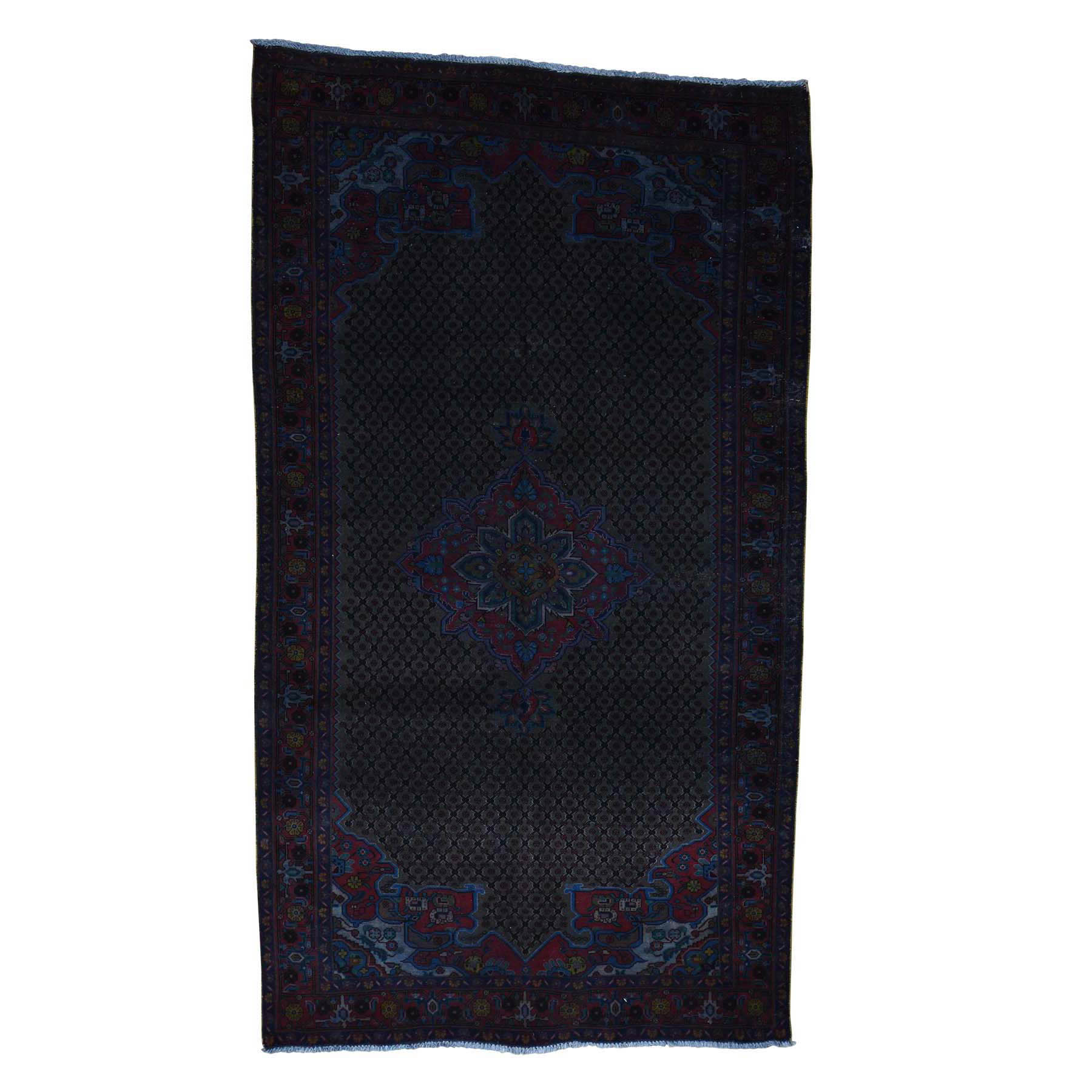 Overdyed-Vintage-Hand-Knotted-Rug-197525