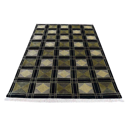 On Clearance Pure Wool Hand Knotted Modern Nepali Oriental Rug