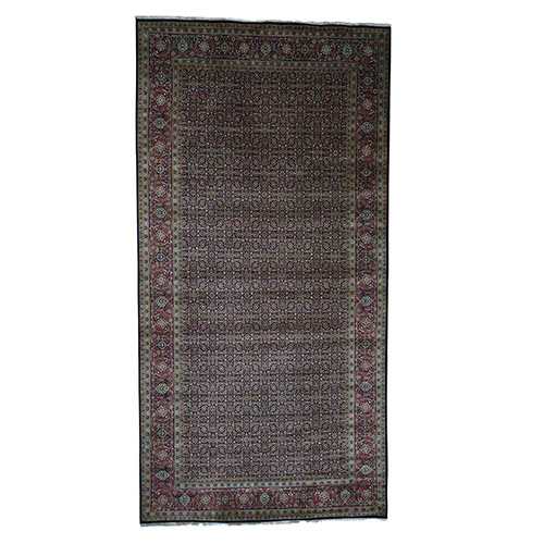 Gallery Size Herati Design Pure Wool Hand-Knotted Oriental