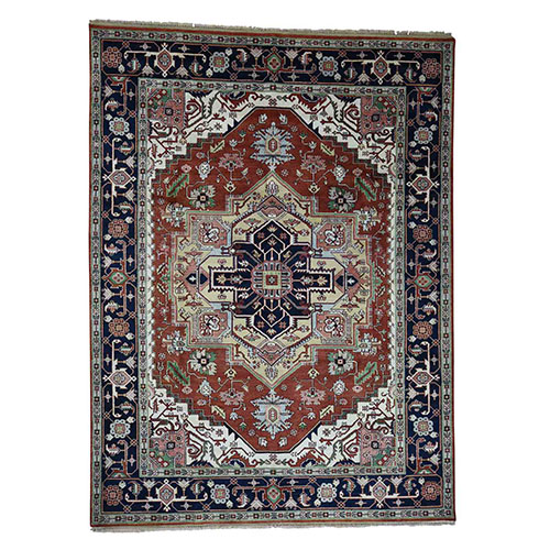 Tribal Design Serapi Heriz Pure Wool Hand-Knotted Oriental