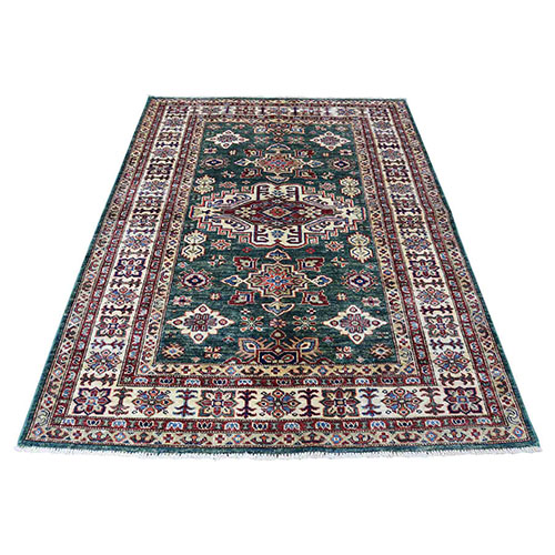 Super Kazak Geometric Design Pure Wool Hand-Knotted Oriental
