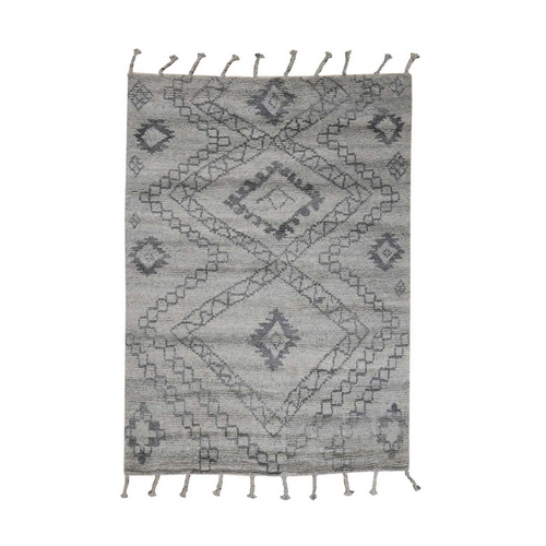 Moroccan Berber Thick and Plush 100 Percent Wool Hand-Knotted Oriental