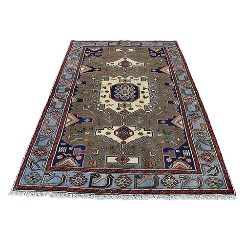 Hand-Knotted Pure Wool New Persian Mosel Oriental