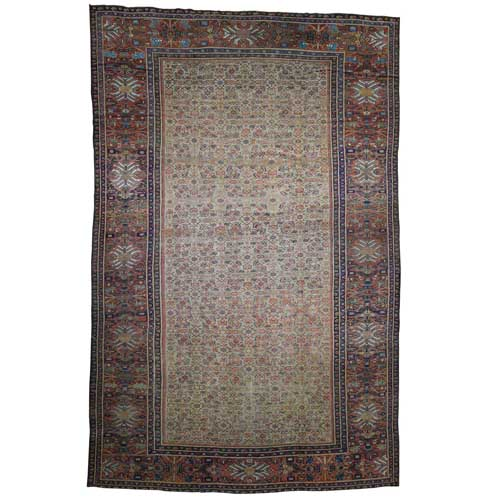 Antique Persian Mahal Exc Cond Pure Wool Hand-Knotted Oversized