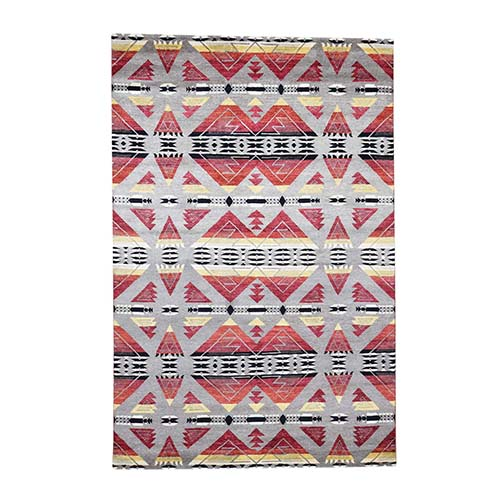Hand-Knotted Pure Wool Southwestern Design Oriental