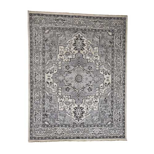 Heriz with Natural Colors Hand-Knotted Oriental Rug