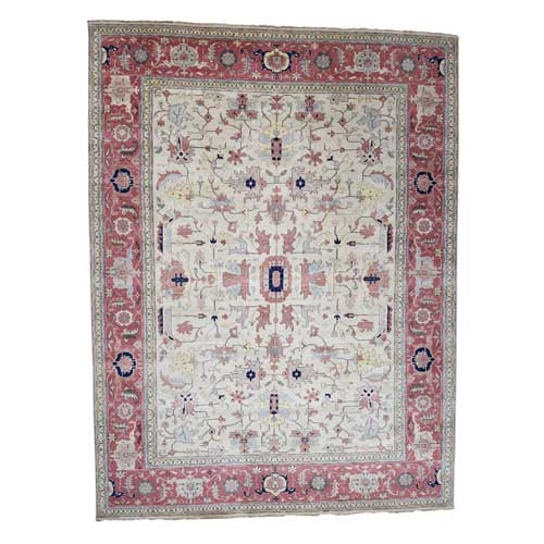 Hand-Knotted Heriz with All Over Design Oversized Oriental
