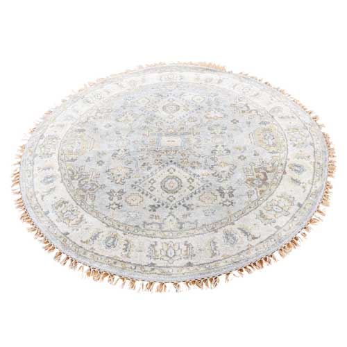 Karajeh Pure Wool Round Hand-Knotted Oriental