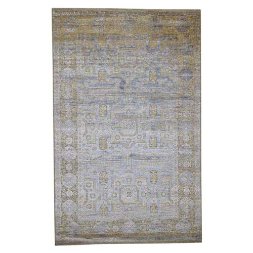 Silk with Oxidized Wool Mamluk Design Oriental