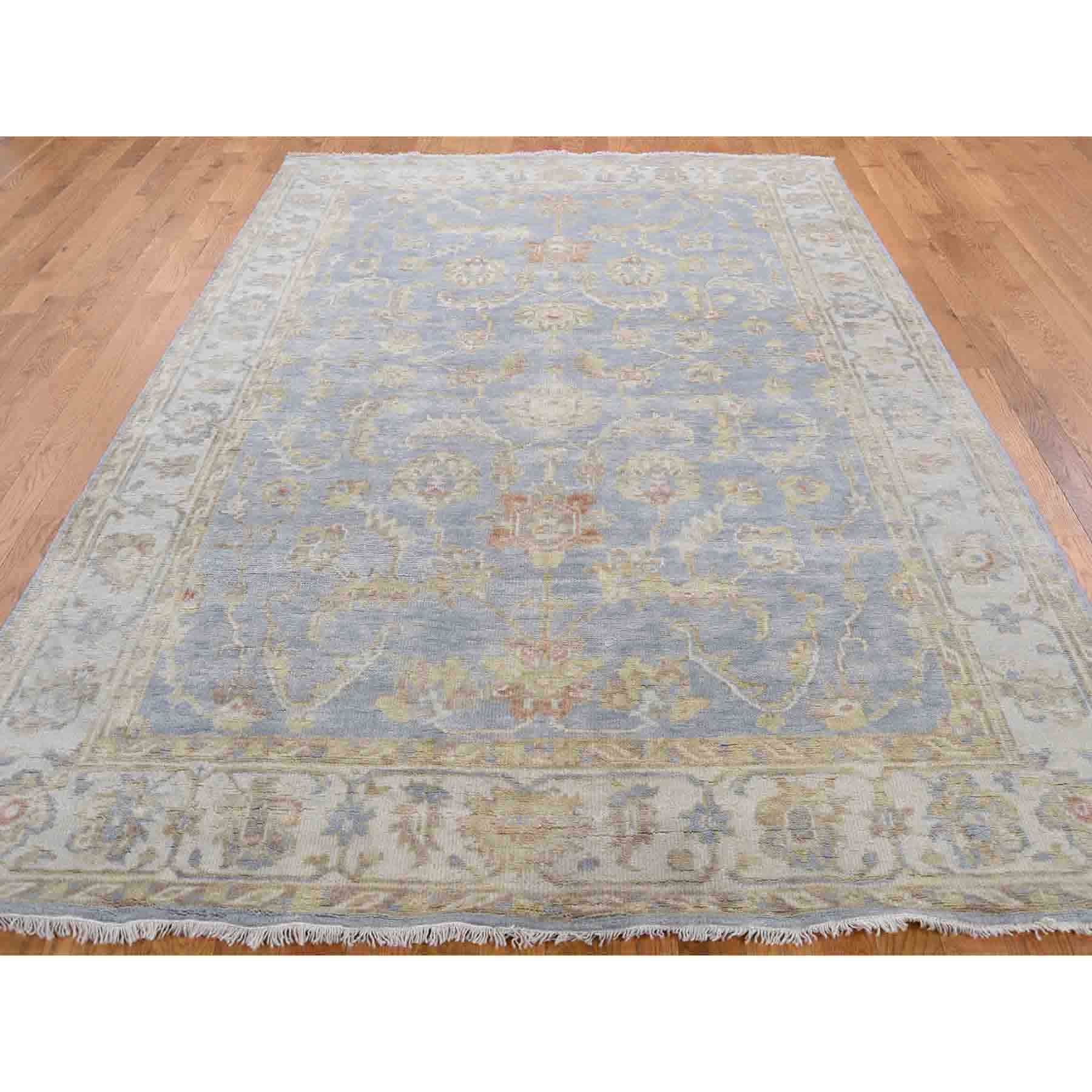 Oushak-And-Peshawar-Hand-Knotted-Rug-207250