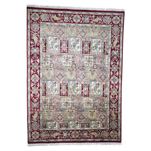Pure Wool Thick And Plush Rajasthan With Paisley Design Clearance Hand-Knotted Oriental