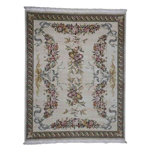 Closeout European Design Dense Weave Oriental Rug Hand Knotted 100%