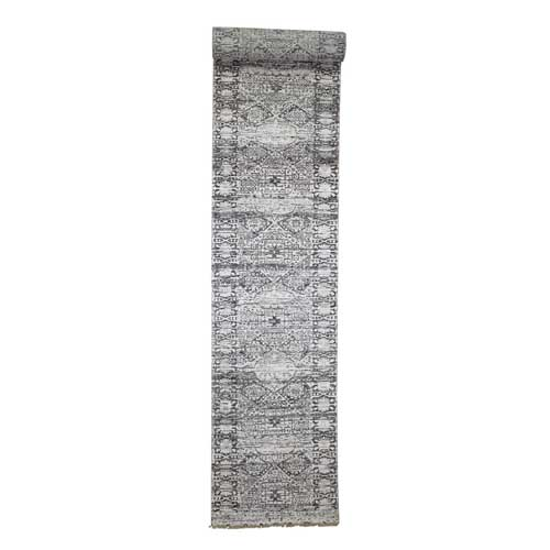 Mamluk Design Hand-Knotted Undyed Natural Wool Oriental XL Runner