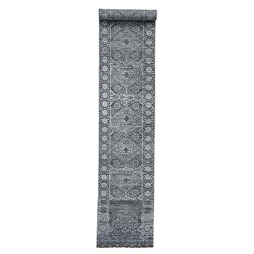 Mamluk Design Hand-Knotted Undyed Natural Wool Oriental