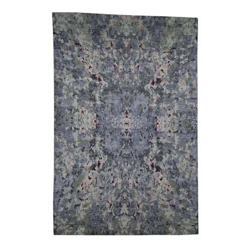 Abstract Design Wool And Silk Hand-Knotted Oriental Rug