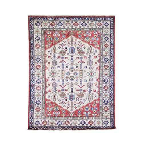 Super Kazak With Shiraz Design Pure Wool Hand-Knotted Oriental