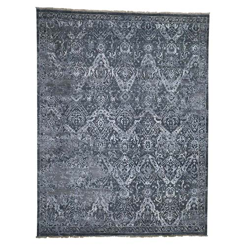 Broken Persian Design Wool And Silk Hand-Knotted Oriental