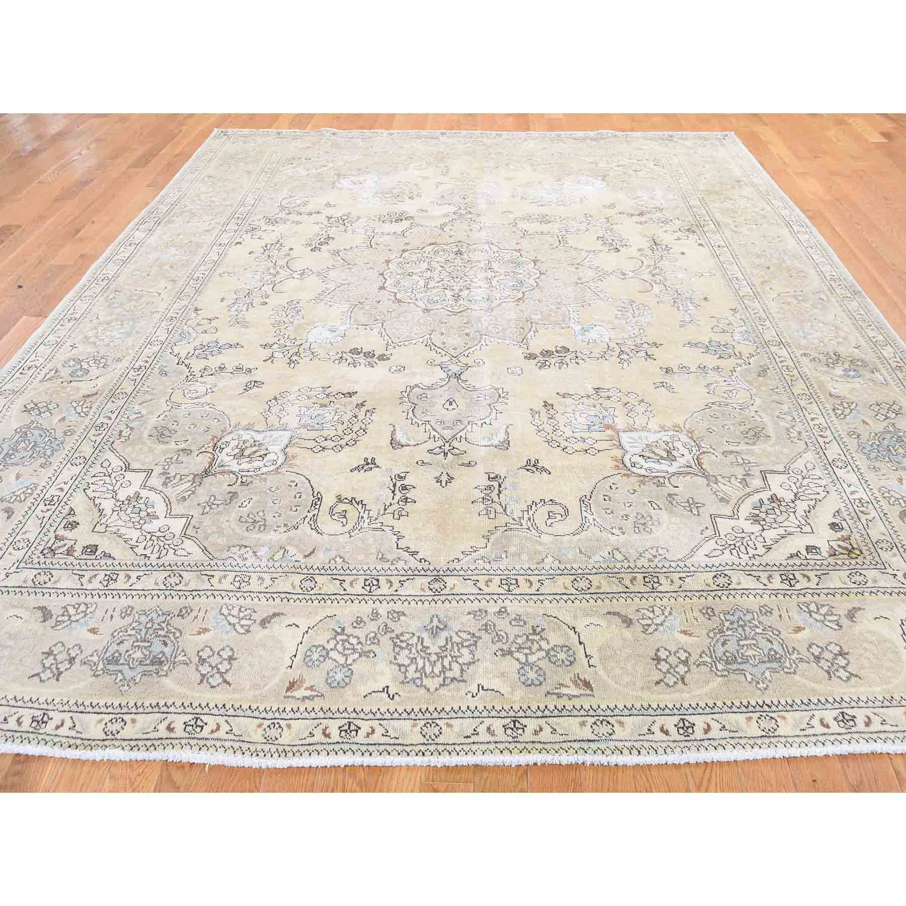 Overdyed-Vintage-Hand-Knotted-Rug-211575