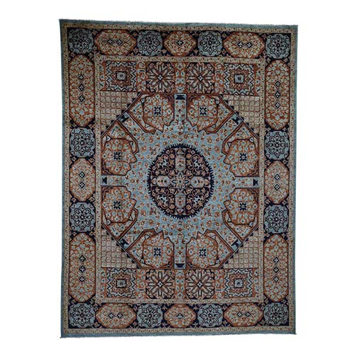 Clearance Pure Wool Mamluk Design Hand-Knotted Oriental