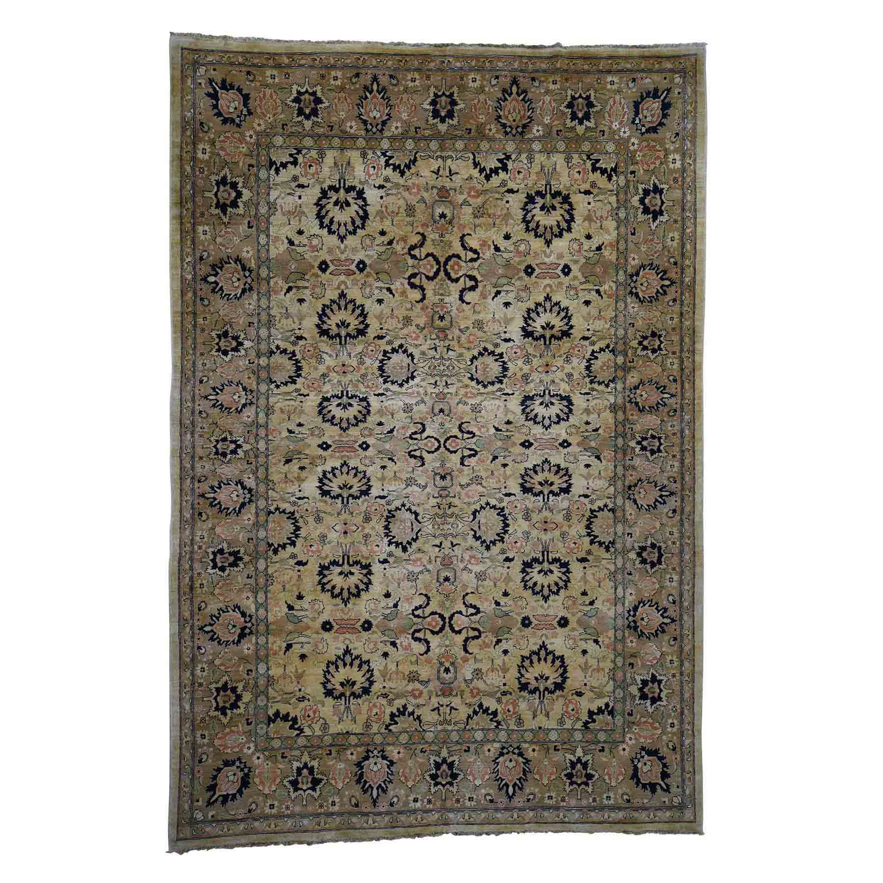 On Clearance Mahal Design Peshawar Pure Wool Hand-Knotted Oriental