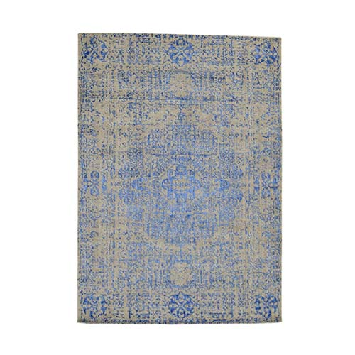Wool And Silk Mamluk Design Hand-Loomed Oriental