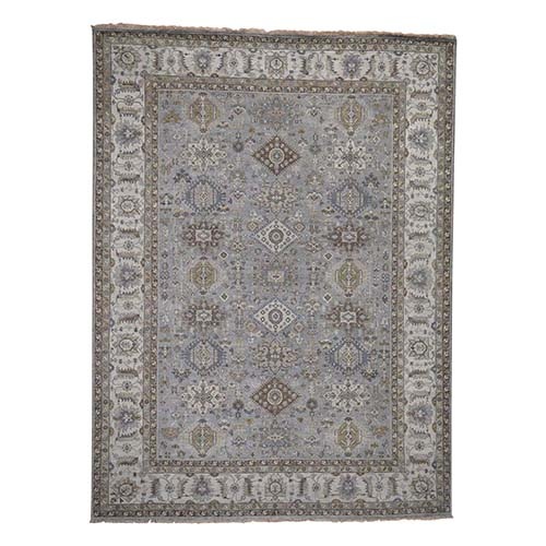 Hand-Knotted Karajeh Design Pure Wool Oriental Rug