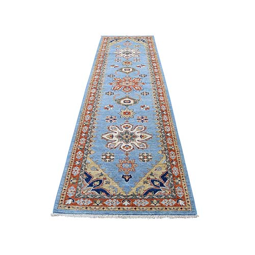 Peshawar With Serapi Design Hand-Knotted Pure Wool Runner Oriental