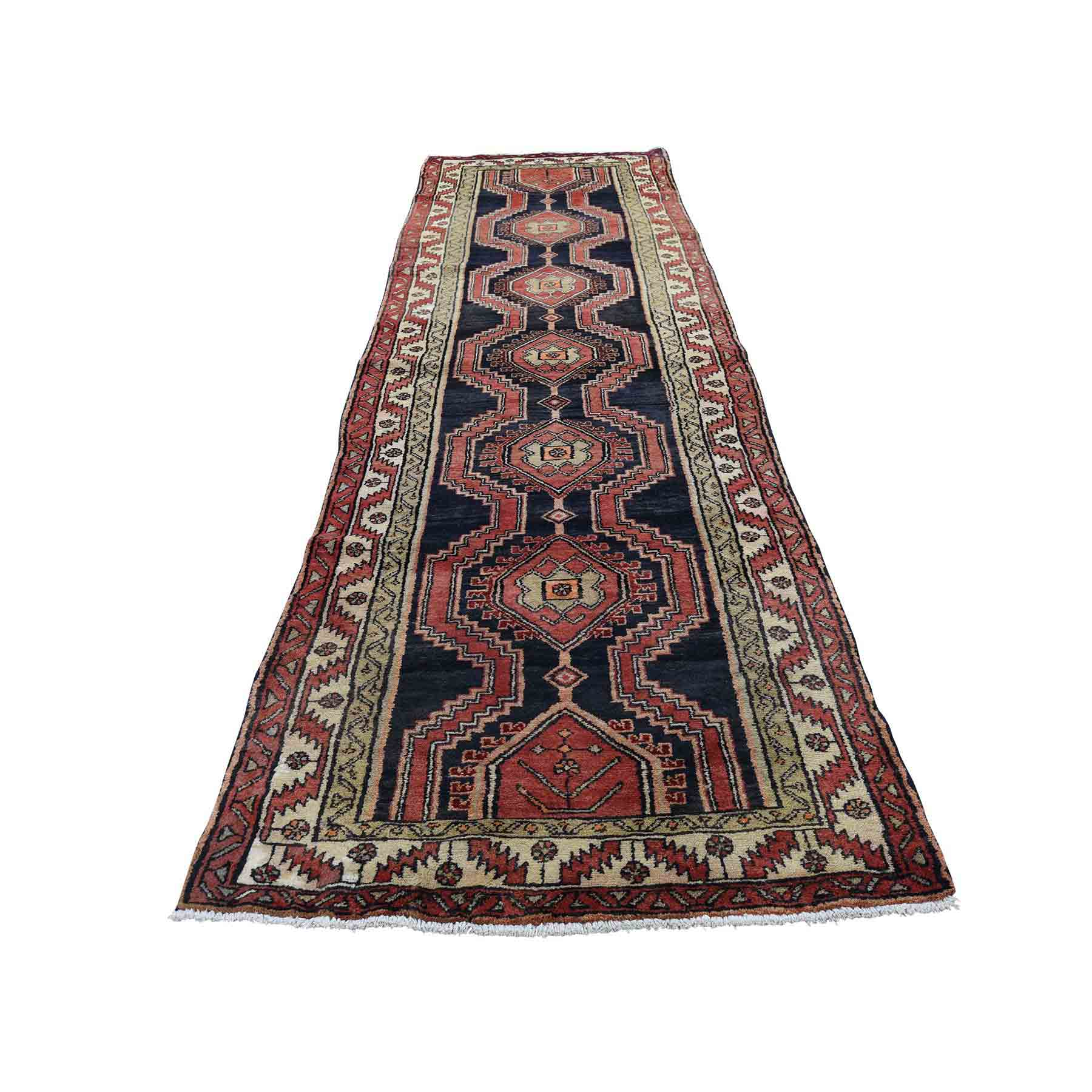 Semi Antique Persian Tribal Pure Wool Good Condition Hand-Knotted Oriental