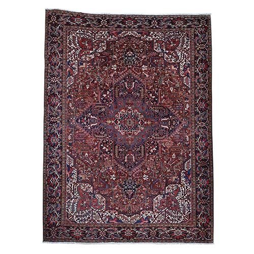 Semi Antique Persian Heriz Exc Condition Full Pile Hand-Knotted Oriental