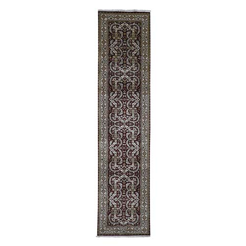 Tabriz Design Hand-Knotted 300 Kpsi New Zealand Wool Wide Runner Oriental