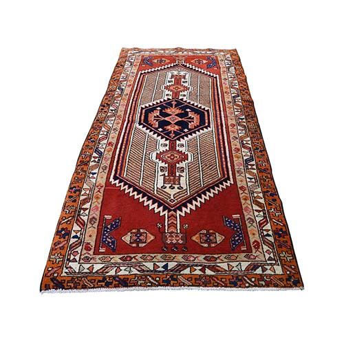 Northeast Persian Tribal Hand-Knotted Pure Wool Wide Runner Oriental
