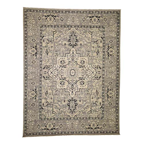 Hand-Knotted Peshawar With Heriz Design Oriental Rug