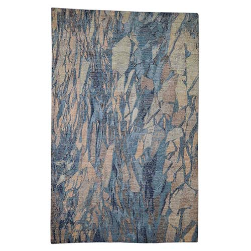 Pure Wool Abstract Design Hand-Knotted Oriental