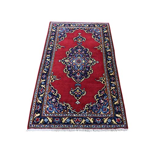 New Persian Kashan Exc Condition Hand-Knotted Pure Wool Oriental