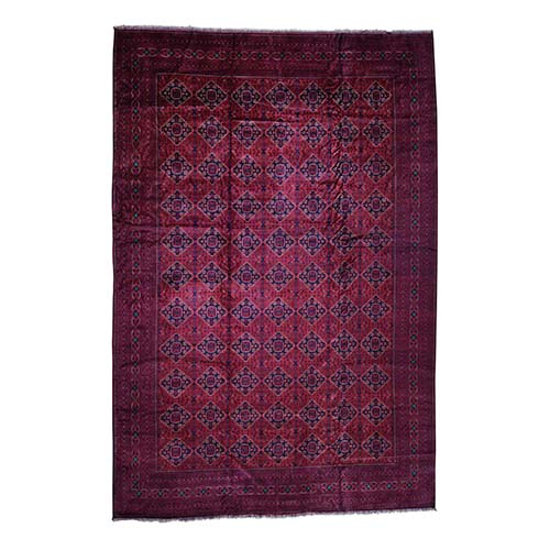 Mansion Size Afghan Khamyab Pure Wool Hand Knotted Oriental