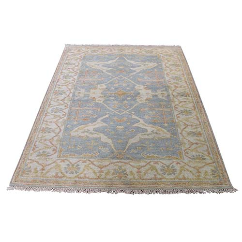 Indo Oushak ziegler mahal Pure Wool Hand-Knotted Oriental