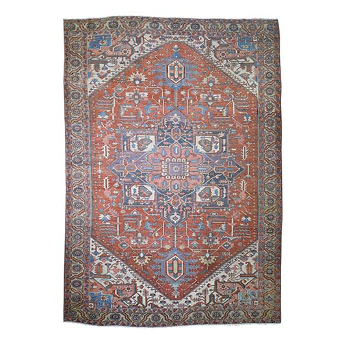 Antique Persian Serapi Heriz Exc Cond Hand Knotted Oversize Oriental