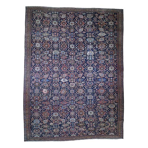 Antique Persian Oversized Mahal Even wear Pure Wool Hand-Knotted Oriental
