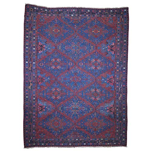 Antique Caucasian Soumak Good Condition Pure Wool Hand-Knotted Oriental