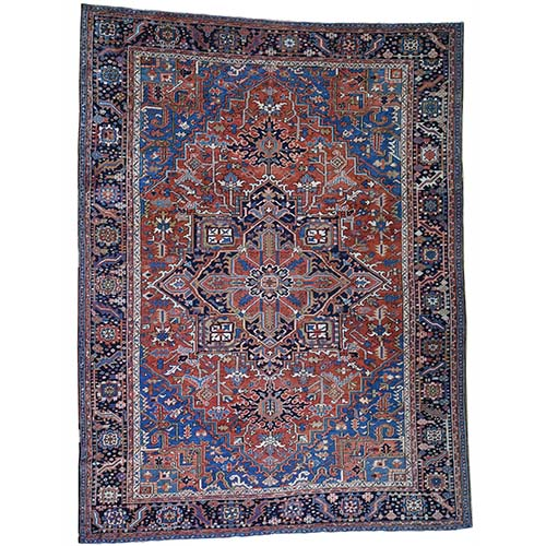 Antique Persian Heriz Exc Condition ,Clean Pure Wool Hand-Knotted Oriental
