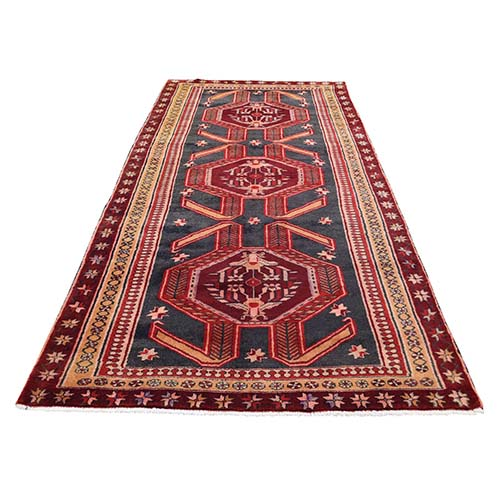 Vintage Persian Northeast Pure Wool Wide Runner Oriental