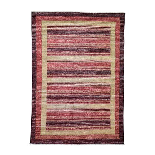 On Clearance Pure Wool Peshawar Gabbeh Hand Knotted Oriental