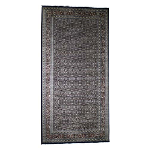 Herati Fish Design 300 KPSI Wool And Silk Hand-Knotted Wide gallery Runner Oriental
