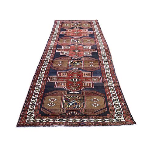 North East Persian Wide Runner Hand-Knotted Oriental