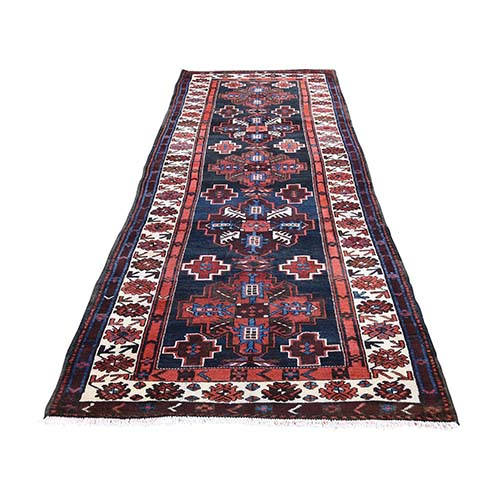 North West Persian Pure Wool Wide Runner Hand-Knotted Oriental