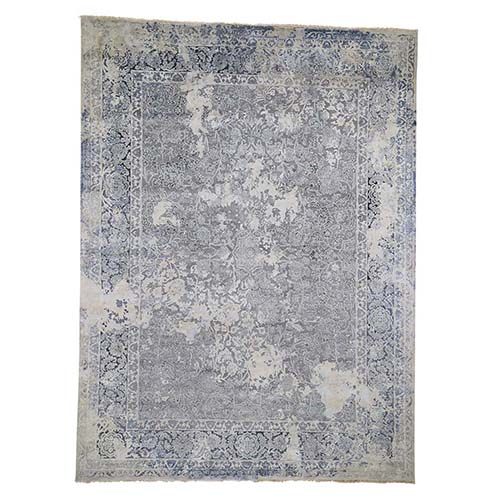 Broken Persian Design With Pure Silk Hand-Knotted Oriental Rug
